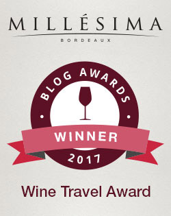 Millésima Blog Award 2017 - Wine Travel category Winner