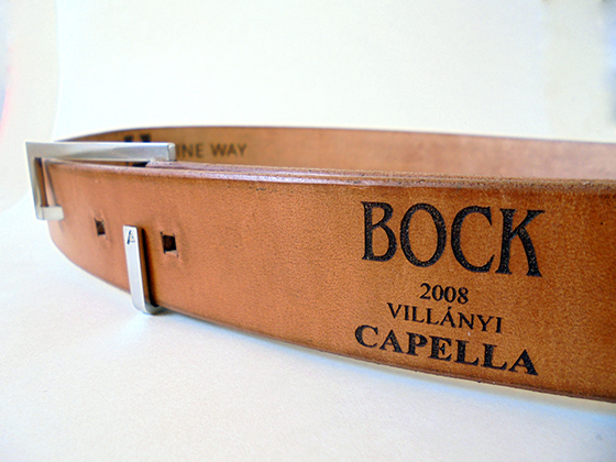 Red wine belt from Bock