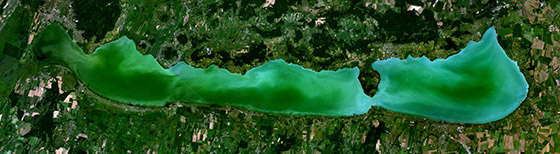 Satellite Image of Lake Balaton