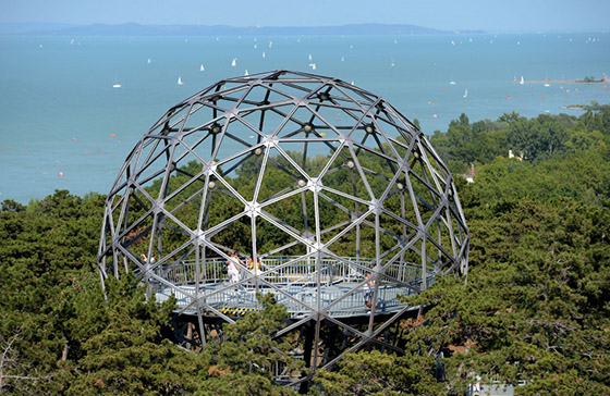 Spherical lookout in Balatonboglár