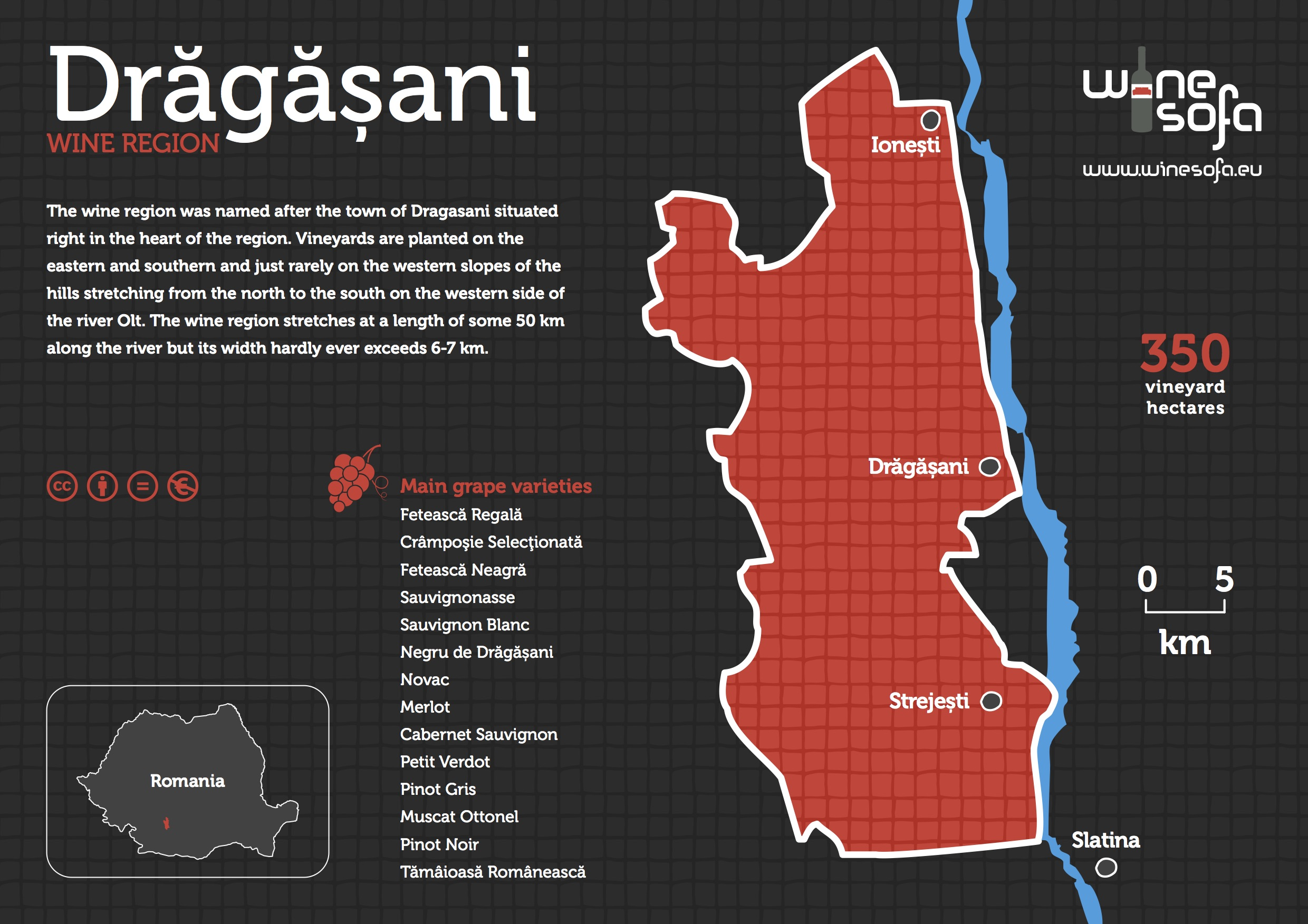 Dragasani info poster by WineSofa